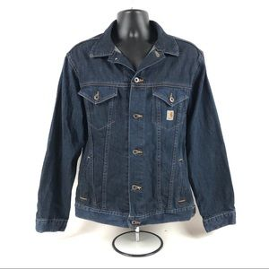 Men's Carhartt Blue Denim Button Up Jean Jacket